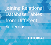 Joining Relational Database Tables from Different Schemas